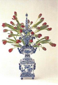 Museum Cards Postcard | Tulip Vase Delft Earthenware