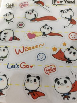 Clear seal sticker Super Panda