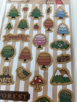 Vintage style Leather color Sticker - forest