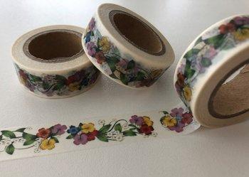 Washi Masking Tape | Flower Wreaths