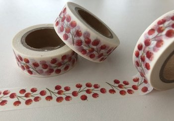 Washi Masking Tape | Red Berries