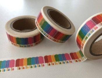Washi Masking Tape   Rainbow Popsicles