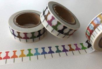 Washi Masking Tape | Rainbow Pushpins