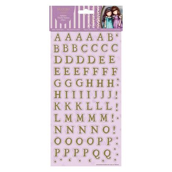 Gorjuss Alphabet Thicker Stickers (166pcs) - Santoro