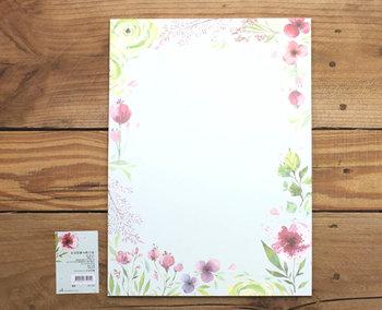 A4 Formaat Gedecoreerd Papier Amy and Tim | Bloemen