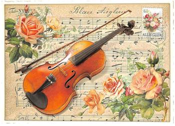 Postcard Edition Tausendschoen | Geige