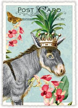 Postcard Edition Tausendschoen | Esel