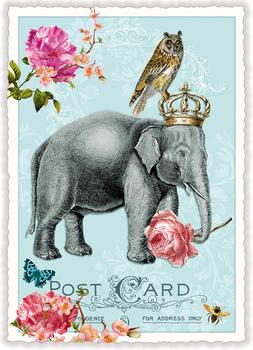 Postcard Edition Tausendschoen | Elefant
