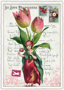 Postcard Edition Tausendschoen | Tulpenfee