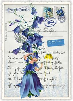 Postcard Edition Tausendschoen | Glockenblumenfee