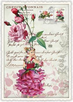 Postcard Edition Tausendschoen | Rosenfee