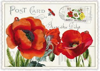 Postcard Edition Tausendschoen | Mohn