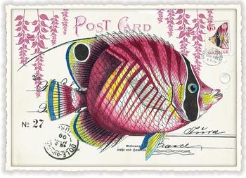 Postcard Edition Tausendschoen | Fisch Rosa