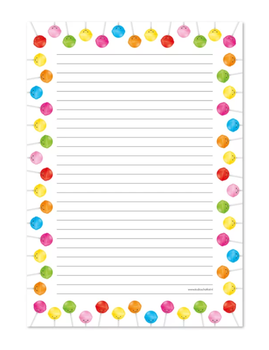 A4 Letterpad Studio Schatkist | Lollies