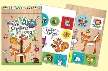 Rachel Ellen Designs Sticker Match Note Pads | STMNT12 Woodland Stickers