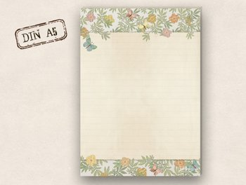 A5 Letter Paper Pad TikiOno | Butterflies