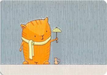 Postcard Gutrath Verlag | Umbrella - Imke S.