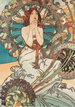 Postcard Tushita Fine Arts | Alphonse Mucha - Monaco Monte Carlo 1897