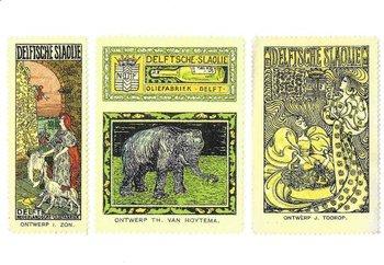 Museum Cards Postcard | Sluitzegels voor de Nederlandse Oliefabrieken Calvé Delft