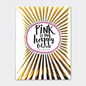 Rachel Ellen Designs Writing Set WALLET | Pink Is My Happy Colour/Pink Fizz