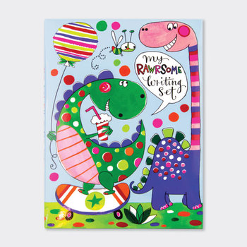 Rachel Ellen Designs Writing Set WALLET | Rawr-some Set Dinosaurs