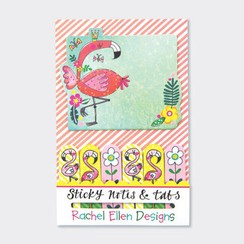 Rachel Ellen Designs Sticky Notes & Tabs - Flamingo
