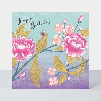 Rachel Ellen Designs Darjeeling - Birthday/Birds & Blossom