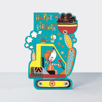 Rachel Ellen Designs Cards - Little Darlings - Happy Birthday Digger