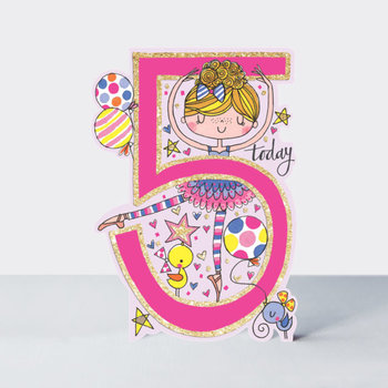 Rachel Ellen Designs Cards - Little Darlings - Age 5 Girl/Ballerina