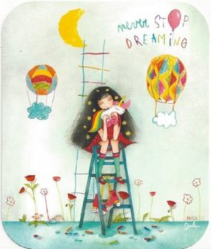 TV Art Postcard Mila | Never stop dreaming