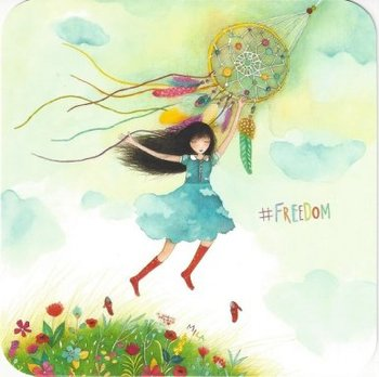 Mila Square Postcard   Freedom