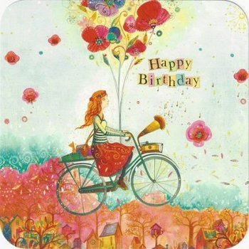 Jehanne Weyman Postcard | Happy Birthday