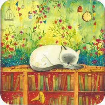 Jehanne Weyman Postcard | The White Cat