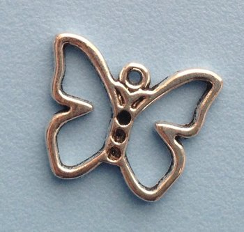 Tibetan Silver Tone Animals Charms Pendants - Butterfly