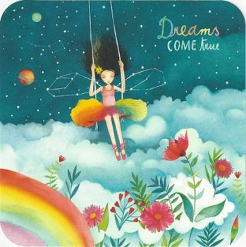 Mila Square Postcard | Dreams come true