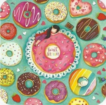 Mila Square Postcard   Sweet Birthday