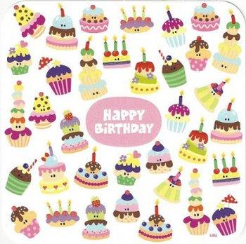 Lali Square Postcard   Happy Birthday