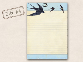 A4 Letter Paper Pad TikiOno | Swallows
