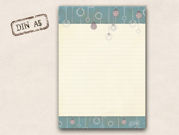 A5 Schreibblock TikiOno | Weihnachtskugeln