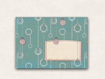 10 x Briefumschläge TikiOno | Weihnachtskugeln