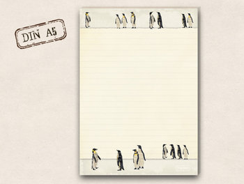 A5 Briefpapierblok TikiOno | Pinguins