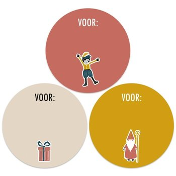 Sint 10x Stickers Multi - Icoon