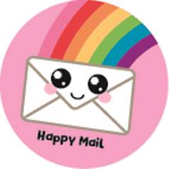 5 Stickers | Happy Mail Rainbow
