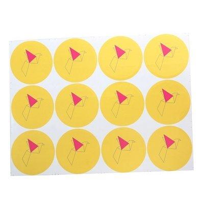 "Sealing Stamp Stickers ""Crane Bird Yellow"""