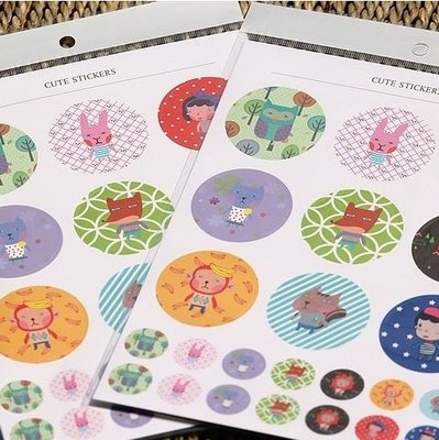 """Sealing Stamp Stickers """"Cute Stickers"""""""