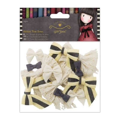 Gorjuss Ribbon Trim Bows (12pcs) - Simply Gorjuss - Santoro