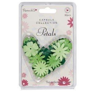 Papermania Petals (30pcs) - Capsule - Verde