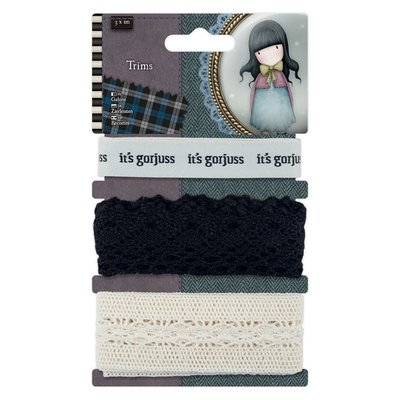 Gorjuss 1m Trims (3pcs) - Santoro Tweed