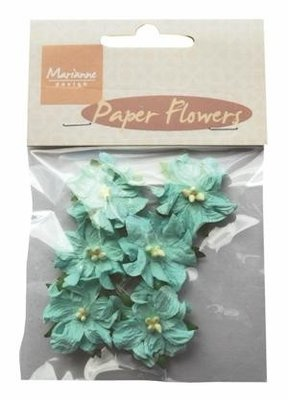 Paper Flowers (6pcs) Marianne Design | Blue