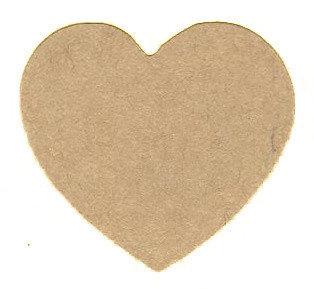 Kraft Heart Sealing Stamp Stickers